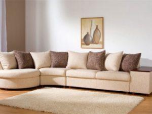 Перетяжка углового дивана на дому в Белгороде